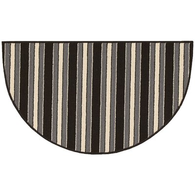 Ravens Striped Area Rug Rug Size: Slice 18 x 210