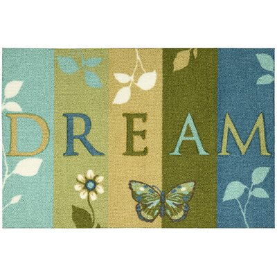 Nesmith Dream Green/Blue Area Rug Rug Size: 18 x 29