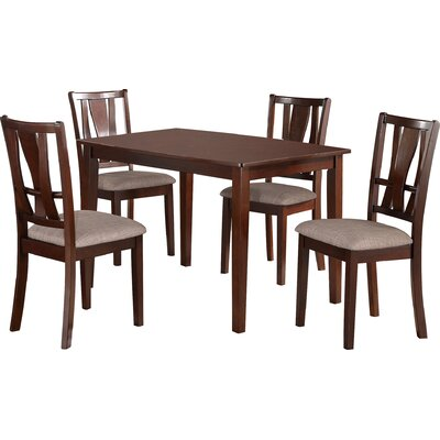 Kerney 5 Piece Cherry Dining Set