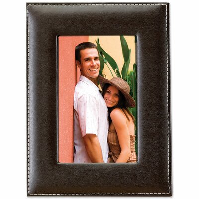 Leather Picture Frame Size: 4 x 6, Color: Chocolate Brown