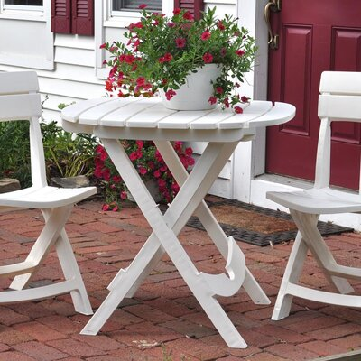 Quebec Resin Bistro Table Finish: White