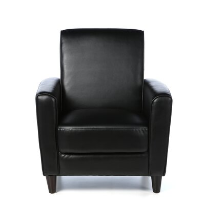 Farnsworth Traditional Arm Chair Upholstrey: Black