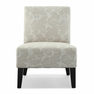 Poppy Fern Slipper Chair Upholstery: Ivory