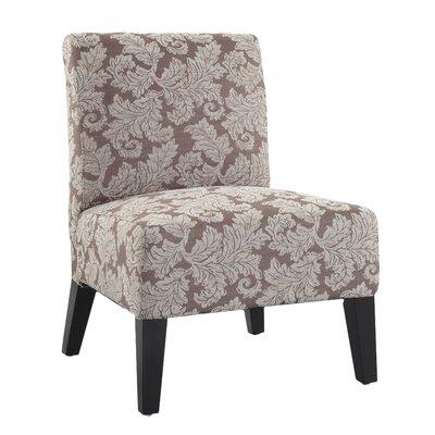 Poppy Fern Slipper Chair Fabric: Taupe