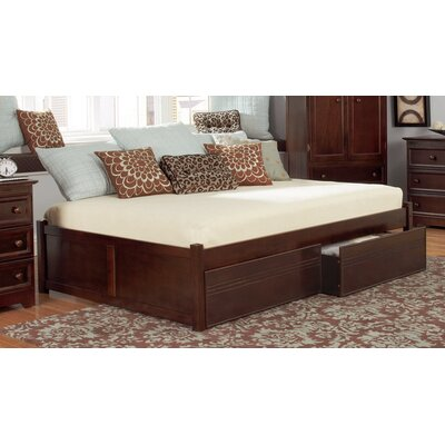 Mackenzie Storage Platform Bed Size: King, Finish: Antique Walnut