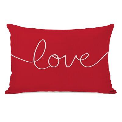 Ursula Love Mix and Match Lumbar Pillow Color: Red