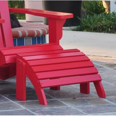 Eustis Ottoman Finish: Tomato Red