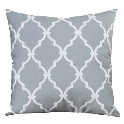 Reuter Trellis Throw Pillow Size: 18 H x 18 W, Color: Gray