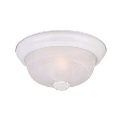 Peterof Flush Mount Finish / Size / Shade Finish: White / 5.25 H x 13.25 W / White Alabaster