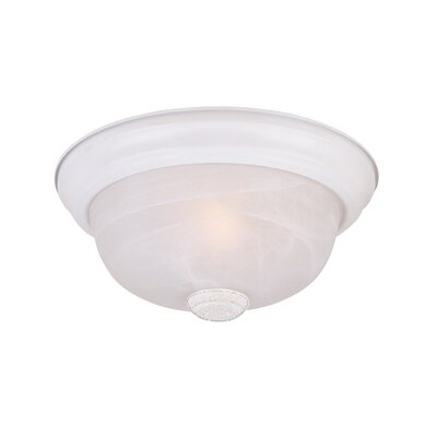 Peterof Flush Mount Finish / Size / Shade Color: White / 4.5 H x 11.25 W / White Alabaster