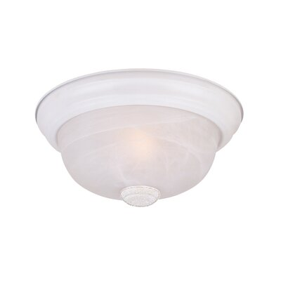 Peterof Flush Mount Finish / Size / Shade Color: White / 5.5 H x 15.25 W / White Alabaster