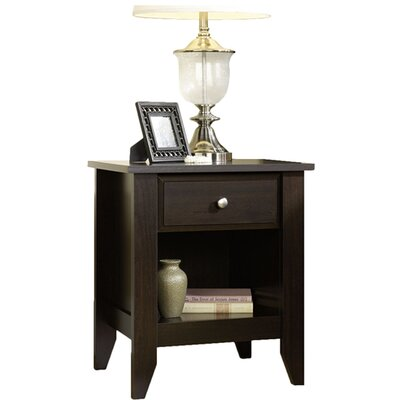 Revere 1 Drawer Nightstand Finish: Jamocha Wood