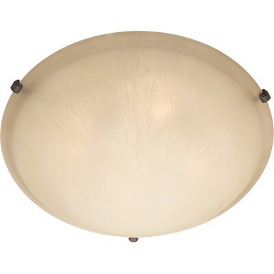Barrett 2-Light Flush Mount Finish / Shade Color: Wilshire/Oil Rubbed Bronze, Size: 6 H x 20 W