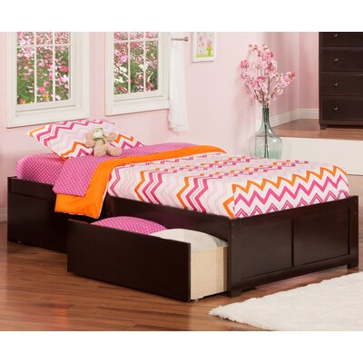 Mackenzie Extra Long Twin Platform Bed with Storage Finish: Espresso