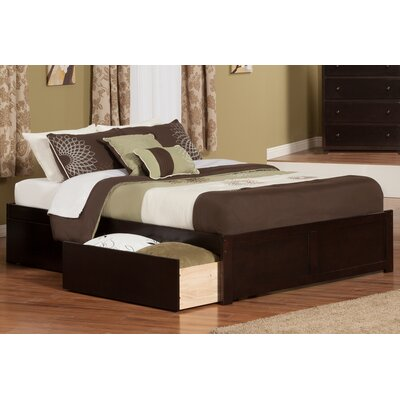 Mackenzie King Storage Platform Bed Color: Espresso