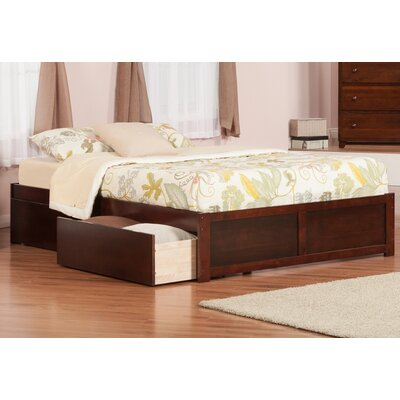 Mackenzie King Storage Platform Bed Color: Antique Walnut
