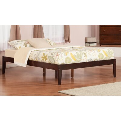 Mackenzie King Platform Bed Color: Antique Walnut