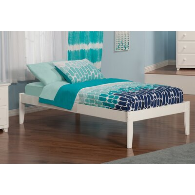 Mackenzie Extra Long Twin Platform Bed Color: White