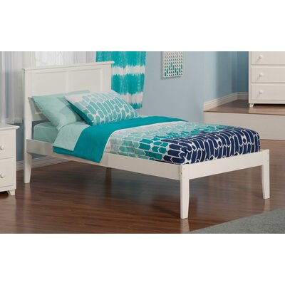 Alanna Extra Long Twin Platform Bed with Open Foot Finish: White