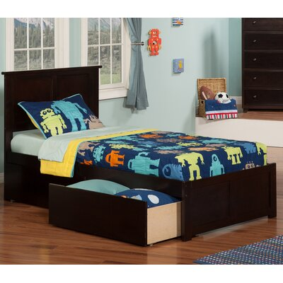 Marjorie Extra Long Twin Platform Bed with Storage Finish: Espresso