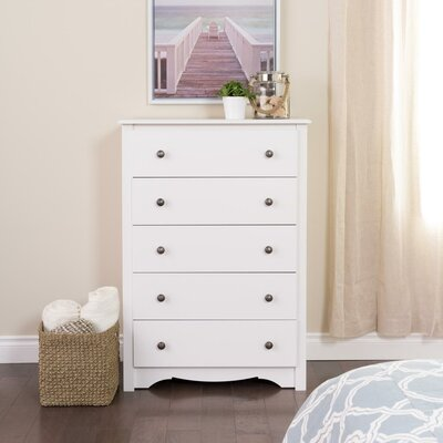 Sybil 5 Drawer Chest Color: White
