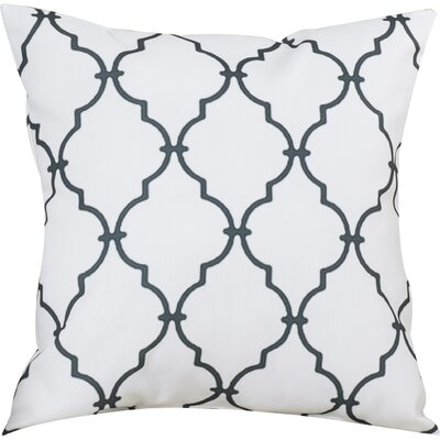 Reuter Trellis Throw Pillow Size: 18 H x 18 W, Color: White