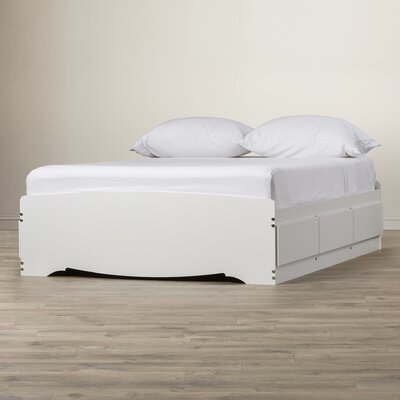 Sybil Platform Bed Size: Full, Finish: White