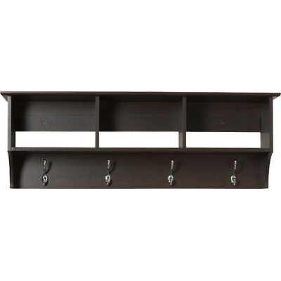 Sybil Entryway Shelf Finish: Dark Brown