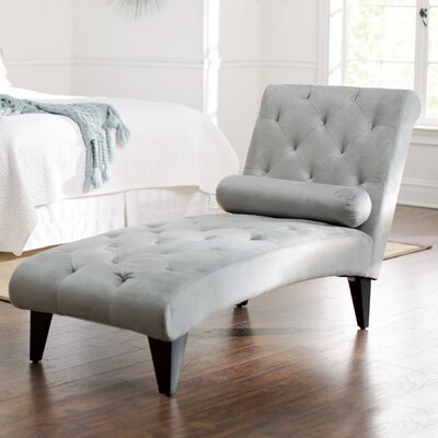 Cooke Tufted Chaise Upholstery: Grey