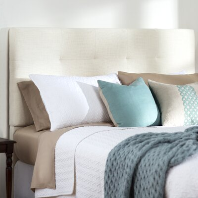 Bulfinch Upholstered Panel Headboard Color: Grenwich Ivory, Size: Full / Queen