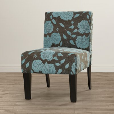 Samson Rose Slipper Chair Upholstery: Blue Rose