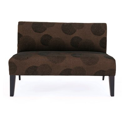 Cullen Sunflower Settee Upholstery: Brown