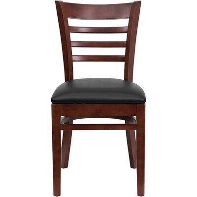 Lyman Chase Ladder Back Side Chair I Finish: Mahogany