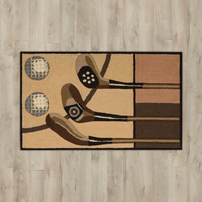 White Taupe Golf Area Rug