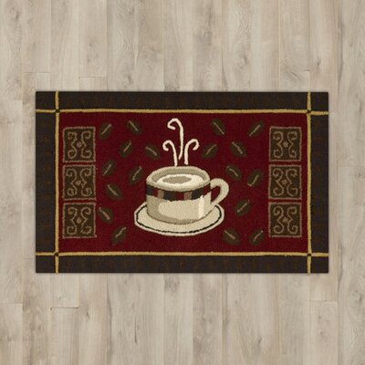 Red/Coffee Area Rug Rug Size: 18 x 28