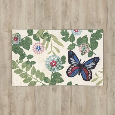 Nesmith Beige Butterfly Area Rug