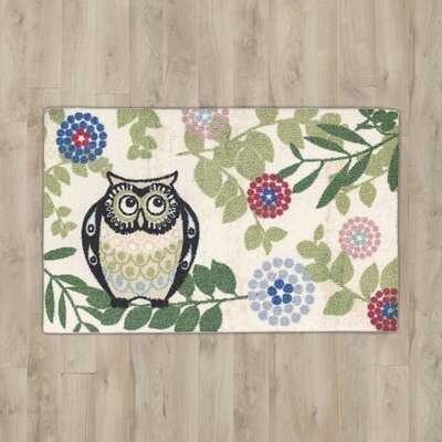 Nesmith Owl Beige/Green Area Rug