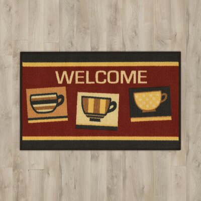Moffett Coffee Red/Yellow Area Rug