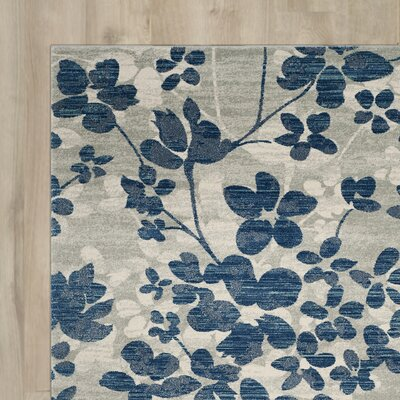 Aegean Gray/Light Blue Area Rug Rug Size: Square 67