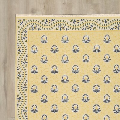 Glarus Handmade Yellow Area Rug Rug Size: Rectangle 56 x 75