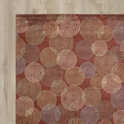 Alfred Red Area Rug Rug Size: 53 x 75
