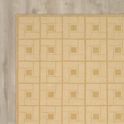 Square Knot Hand-Loomed Coarkboard Area Rug Rug Size: Round 4 x 4