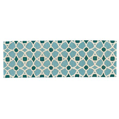 Hillcrest Hand-Tufted Lagoon Area Rug Rug Size: Runner 26 x 8