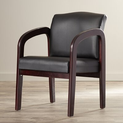 Cornelie Guest Chair Frame Finish: Cherry, Fabric: Brackel - Blue