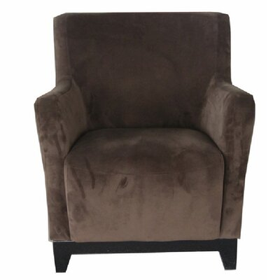 Alexandria Armchair Color: Chocolate