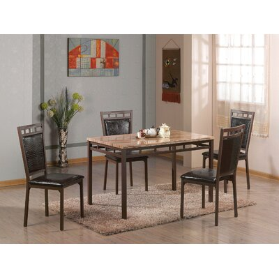 Brundrett 5 Piece Dining Set Finish: Espresso