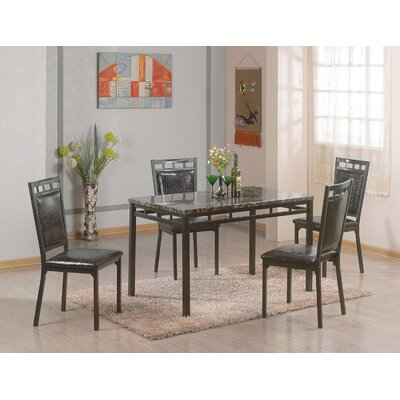 Brundrett 5 Piece Dining Set Finish: Black