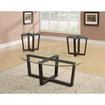 Allegany 3 Piece Coffee Table Set