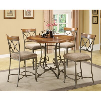 Court 5 Piece Counter Height Dining Set