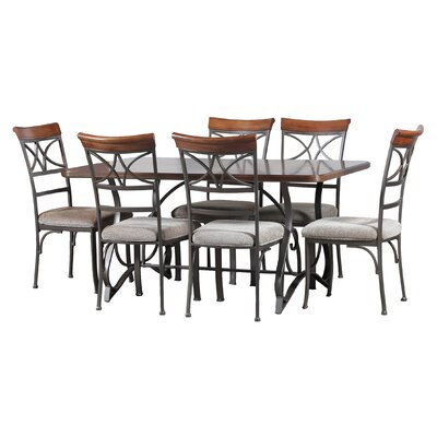 Keisha Rectangle 7 Piece Dining Set